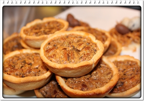 Butter tarts with pecans